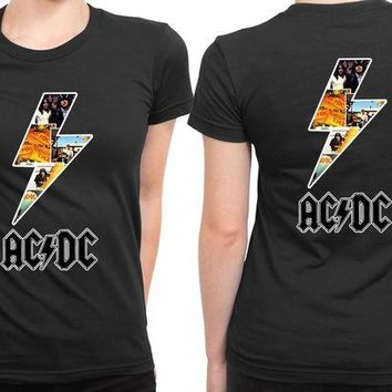 ONETOW ACDC Lightning Since 2 Sided Womens T Shirt