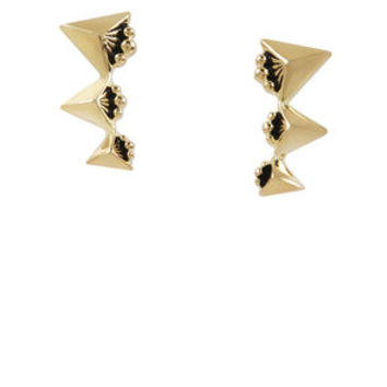 PYRAMID CLIMBER EARRINGS in Gold - BCBGeneration
