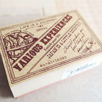 LIFE JOURNEY rubber stamp by Tokyo antique