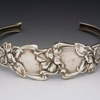 Adjustable Cuff Silver Spoon Bracelet - Elaine