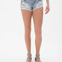 Klique B Embossed Southwestern Print Stretch Short