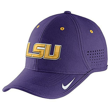 Nike Lsu Tigers Purple Dri-fit Sideline Diamond Dust Coaches' Adjustable Hat