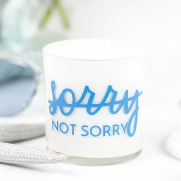 Sorry - Not Sorry Quote Jar in Fairy's Dust Scent