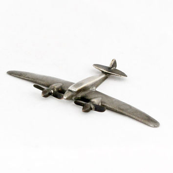 1930s Vintage Art Deco Airplane Aircraft Metal Plane