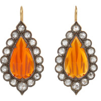 Cathy Waterman Fire Opal & Diamond Lace Earrings at Barneys.com