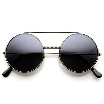 Limited Edition Color Flip-Up Lens Round Circle Django Sunglasses