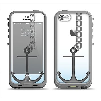 The Gray Chained Anchor Apple iPhone 5c LifeProof Fre Case Skin Set