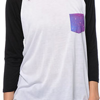 Empyre Indira Galaxy Pocket Baseball Tee Shirt