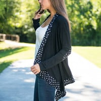 Opposites Attract Cardigan, Black