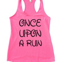 ONCE UPON A RUN Womens Workout Tank Top