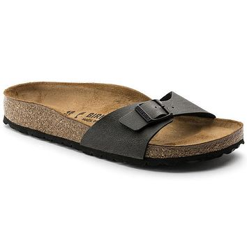Best Online Sale Birkenstock Madrid Birko Flor Pull Up Anthracite 1000340 Sandals