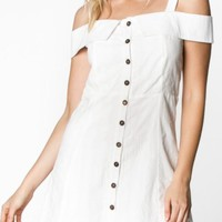 Fit and Flare Button Down Dress