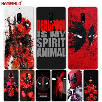 HAMEINUO Cool Marvel Hero Deadpool cover phone case for Nokia 9 8 7 6 5 3  Lumia 630 640 640XL 2018