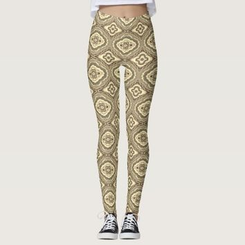 Gray geometric pattern leggings