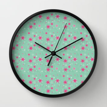 Elsa Frozen Fever Cape pattern Wall Clock by Studiomarshallarts