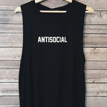 AntiSocial Tank (Black)