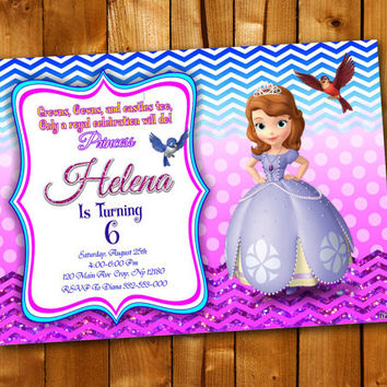 SOFIA, Birthday Invitation, Birthday Party for little boy and little girl