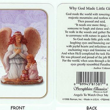 "25 Prayer Cards -  "" Why God Made Little Girls """