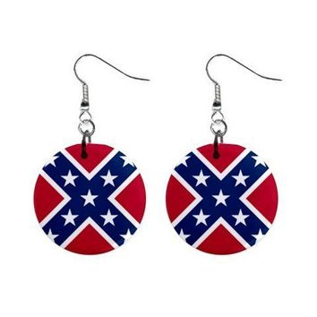REBEL FLAG SOUTHERN PRIDE DIXIE EARRINGS  REDNECK GIRL