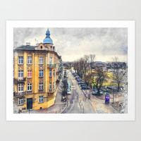 Cracow art 11 #cracow #krakow #city Art Print by jbjart
