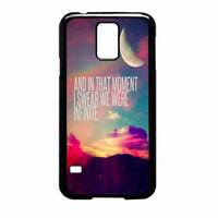 Perks Of A Wall Flower Quote Design Vintage Retro Samsung Galaxy S5 Case