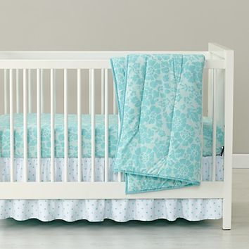 Dream Girl Crib Bedding (Aqua) | The Land of Nod
