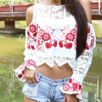Cameron Embroidered Crop Top