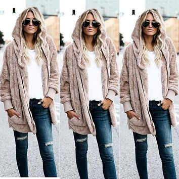 Women's Long Sleeve Oversized Loose Knitted Sweater Jumper Cardigan Outwear Coat