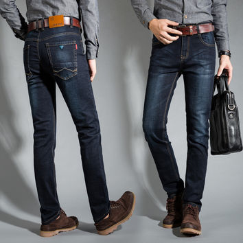 Fashion Mens Denim Pants Slim Stretch Jeans [6541374531]