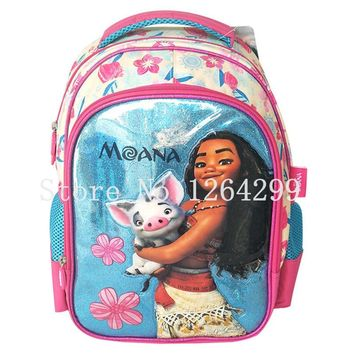 New Princess Moana Girls Students School Bags Kids Backpack Bag