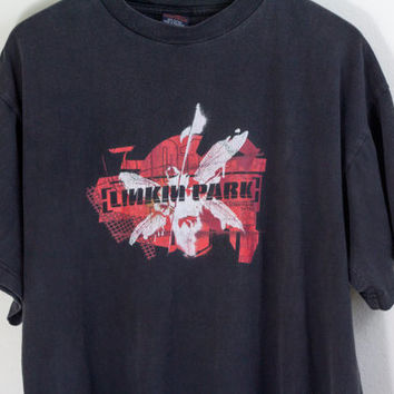LINKIN PARK SHIRT / linkin park tee / street soldier concert tee / american rock band shirt / tour shirt / vintage / mens / large