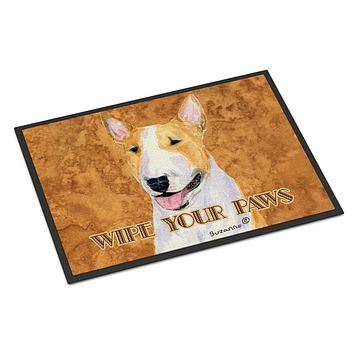 Bull Terrier Wipe your Paws Indoor or Outdoor Mat 18x27 SS4890MAT