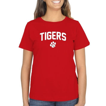 University of West Alabama Ladies Mascot Logo Classic Fit T-Shirt - Red