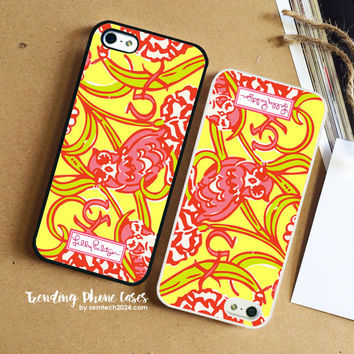 Chi Omega-Lilly Pulitzer  iPhone Case Cover for iPhone 6 6 Plus 5s 5 5c 4s 4 Case