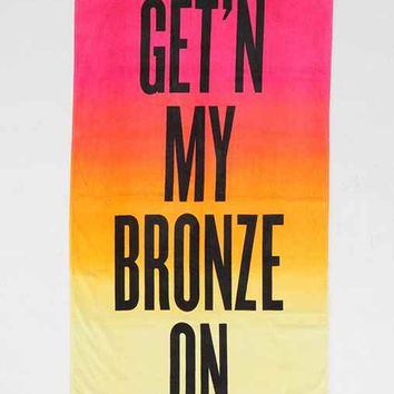 Bronze Beach Towel- Orange One