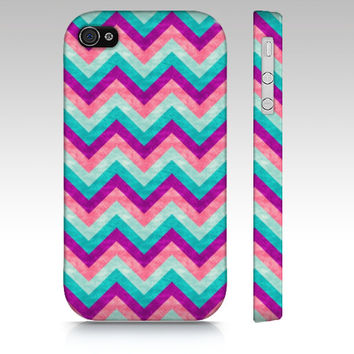 Chevron iPhone 4s case, iPhone 5 case, iPhone 5s case, colorful zigzag, trendy fashion case, geometric in pastel colors art phone case