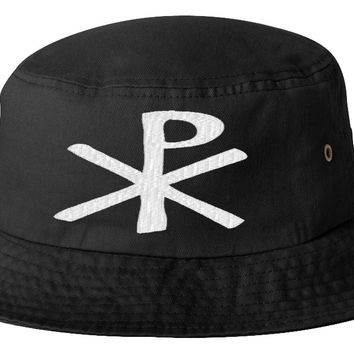 Chi Rho Thick bucket hat