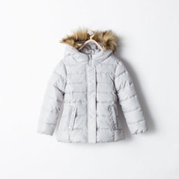 Fleece-lined padded jacket