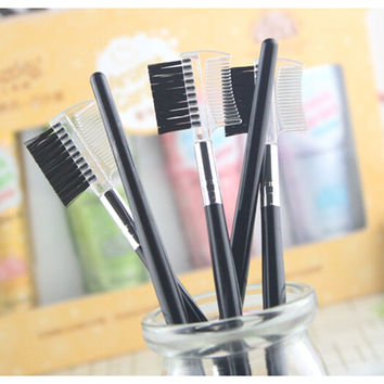 2pcs Eyebrow Eyelash Dual-Comb Extension Brush Comb Cosmetic Makeup Tool