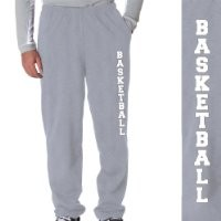 Basketball Fleece Sweatpants Youth Large on Gray