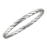 .925 Sterling Silver Twist Band Toe Ring, Size 1.5
