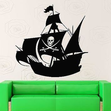Wall Stickers Vinyl Decal for Kids Room Pirate Ship Baby Nursery Unique Gift (ig516)