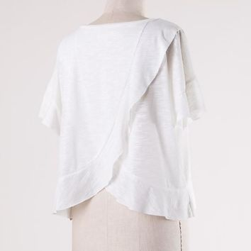Ivory Cut-Out Tee