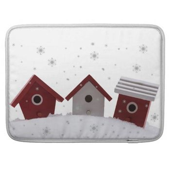 Bird houses in snow sleeve for MacBooks