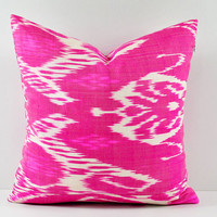 PINK IKAT pillow 20x20 Decorative Throw Pillows 20x20 Modern Pillow Covers MPI435-20