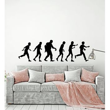 Vinyl Wall Decal Zombies Silhouette Dead Horror Teenage Decor Stickers Mural (g413)