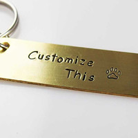 custom keychain, you saying, custom stamped keychain, gps keychain, personalized accessories, his and hers keychain