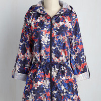 April Showers Bring Wildflowers Raincoat in Abstract | Mod Retro Vintage Jackets | ModCloth.com
