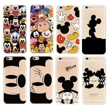"Case I6 Soft TPU Material Mickey Cartoon Mouse Transparent Phone case For apple Iphone 6 6S 4.7"" Soft Protective shell BSJK1181"