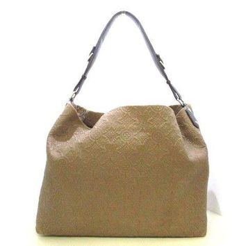 Auth LOUIS VUITTON Hobo GM M93159 Olive Antheia Monogram Suede Leather